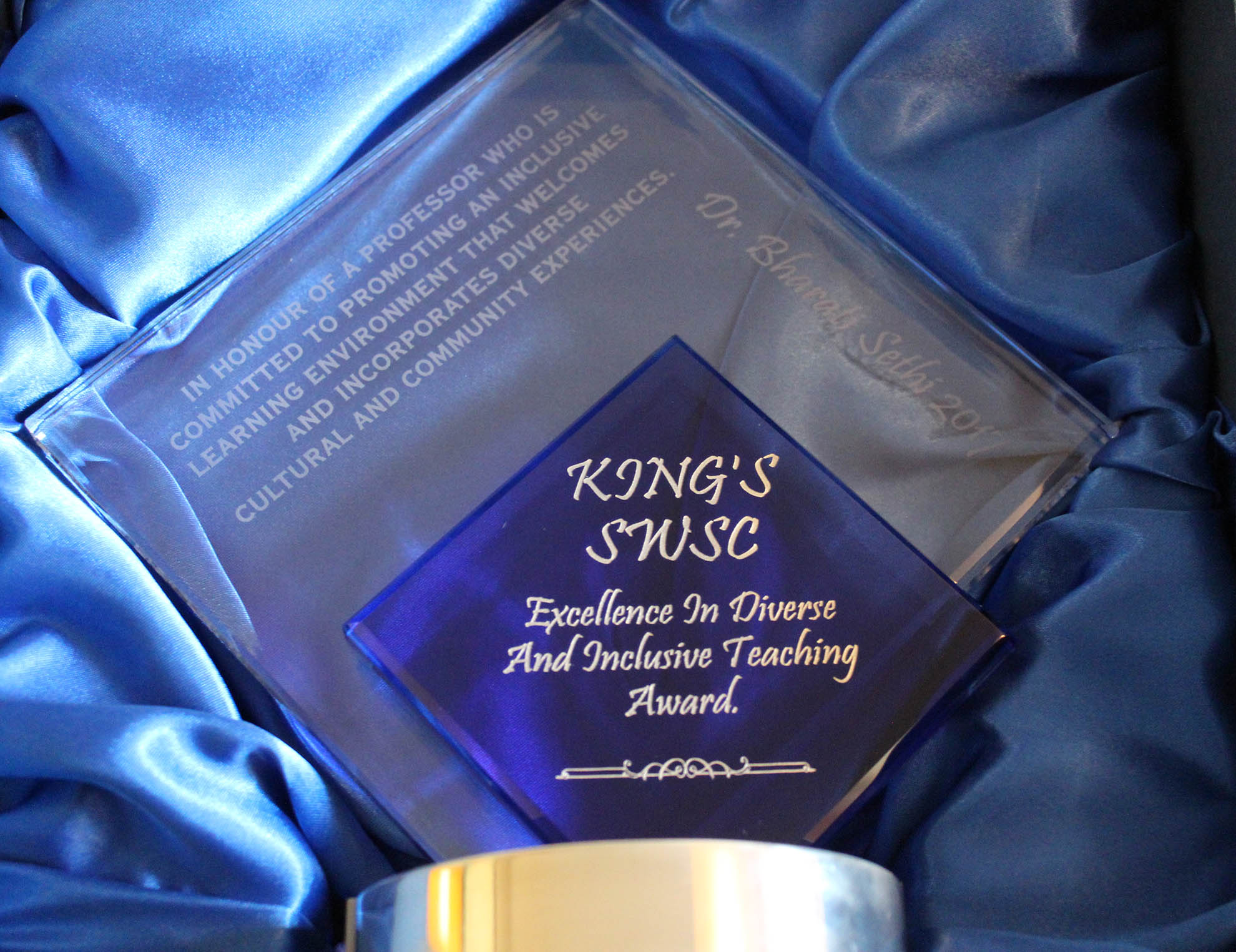 KCSA Award close-up