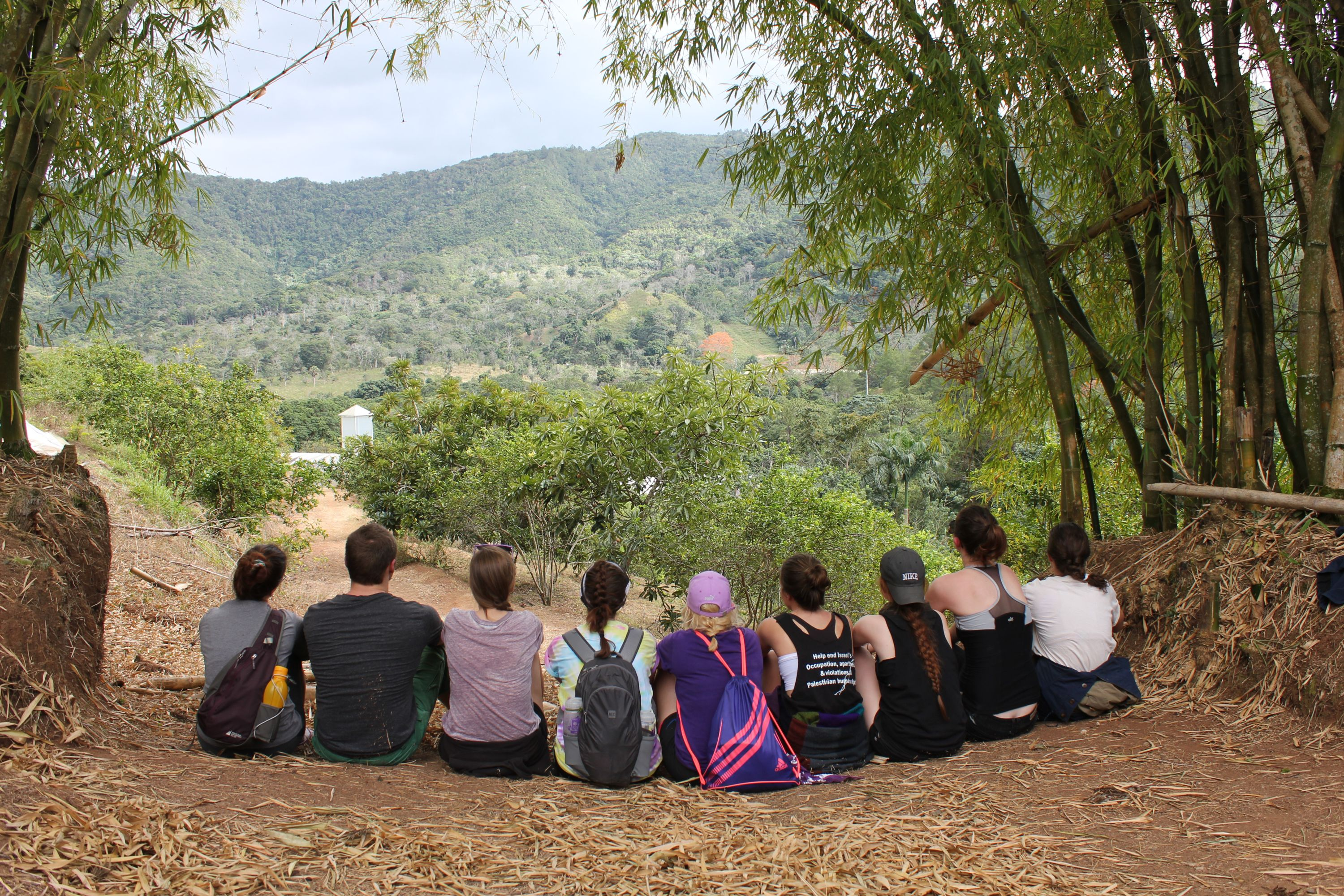 (Image: Students at an organic farm in Dominican Republic)