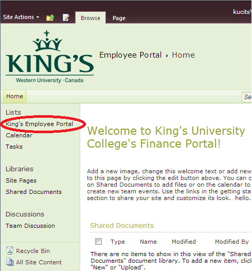 Employee Financial Services - King's University College