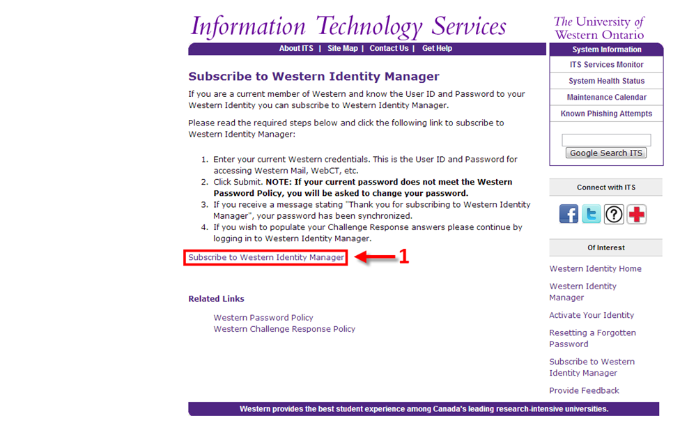 Subscribe to Western Identity Manager