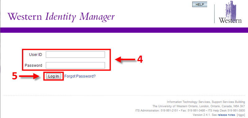 Logging into Western Identity Manager