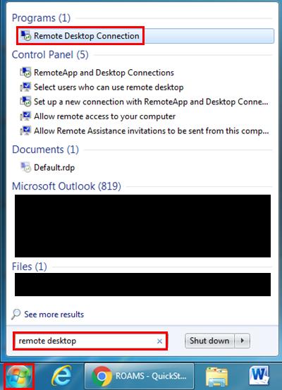ROAMS - QuickStart Guide (Windows) - King's University College