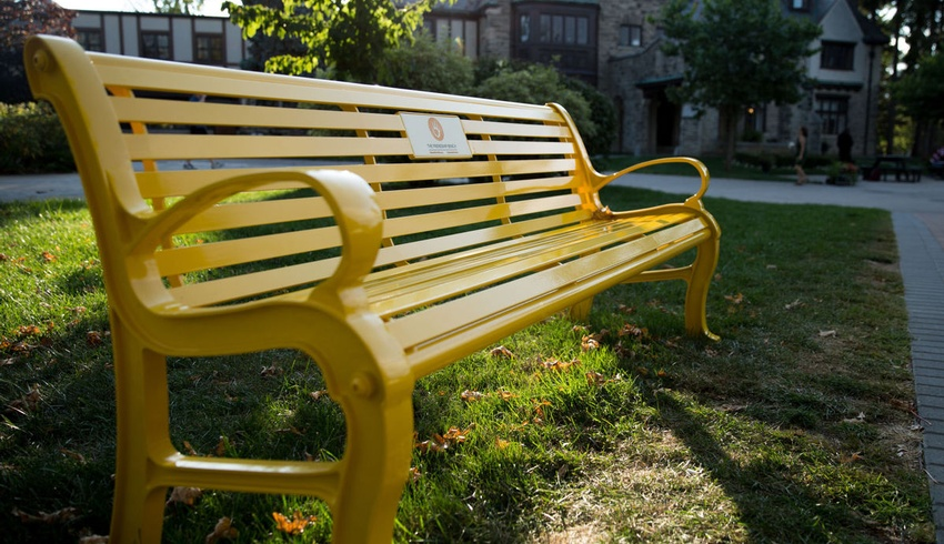 Friendship Bench reminds students they are not alone