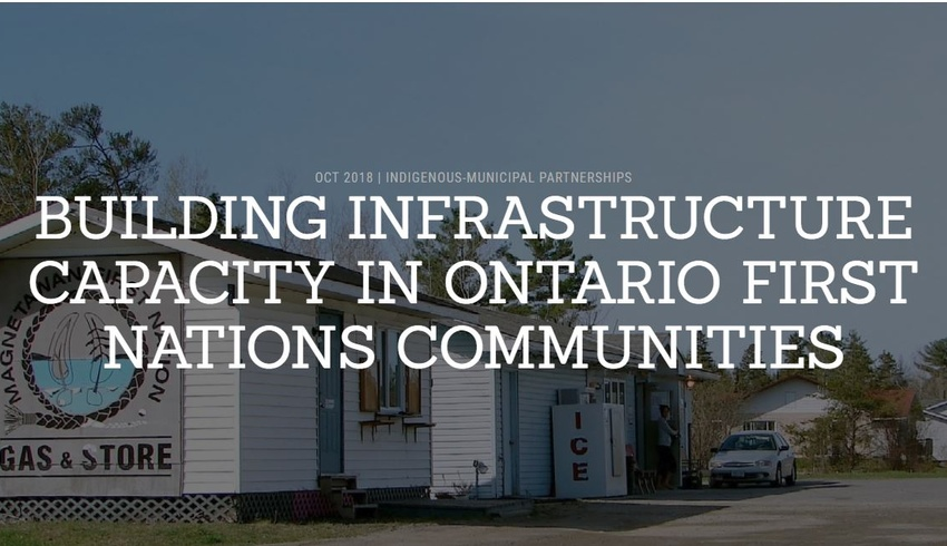 Building infrastructure capacity in Ontario First Nations communities