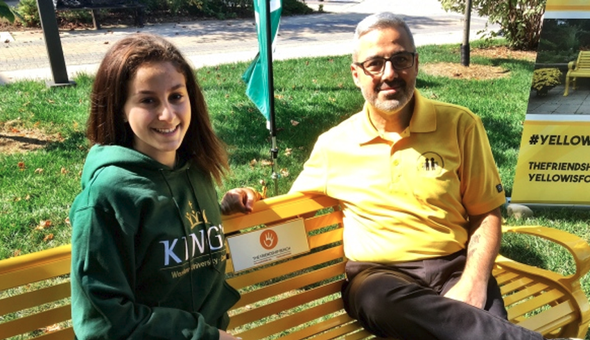 King's installs first Friendship Bench in London