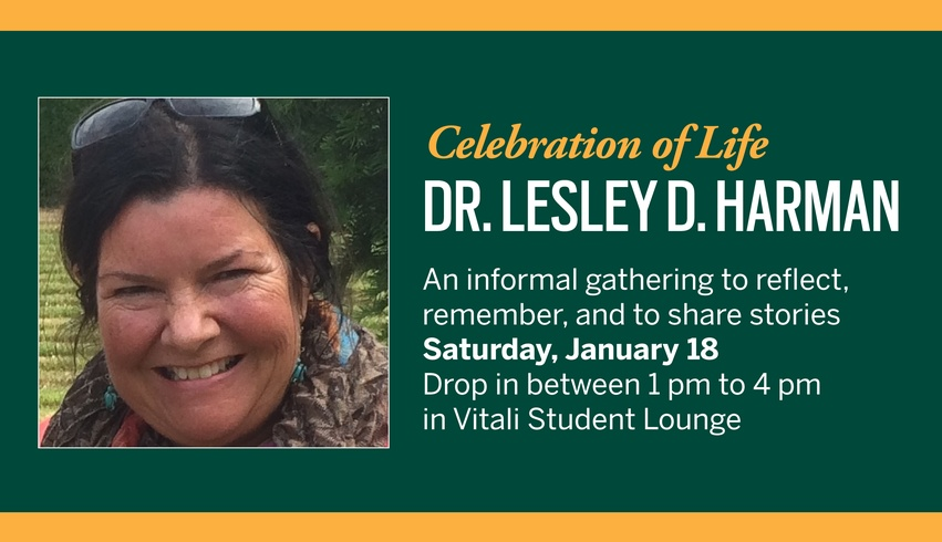 Celebration of Life: Dr. Lesley D. Harman