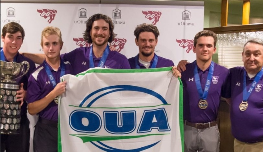Western Mustangs Win OUA Golf Championship