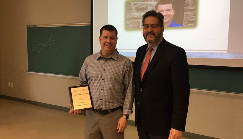 Social Work Professor awarded for his work and research