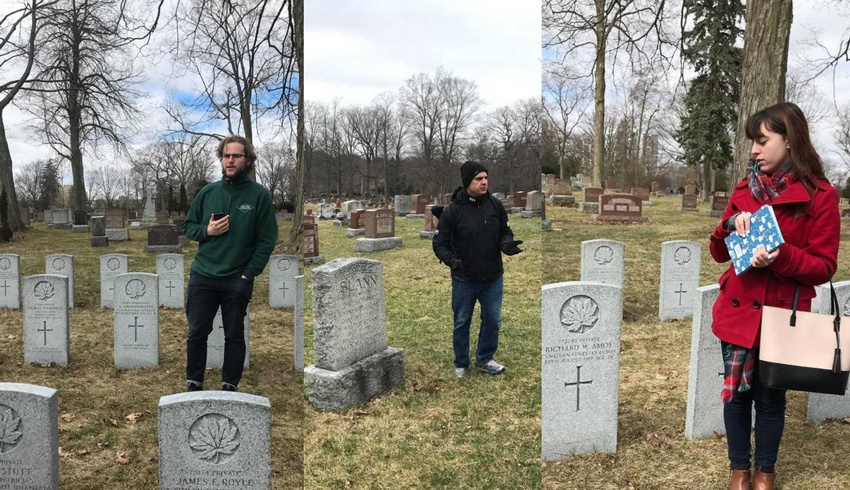 History students explore local cemeteries