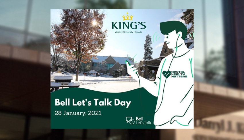 King's goes virtual to promote wellness for Bell Let's Talk