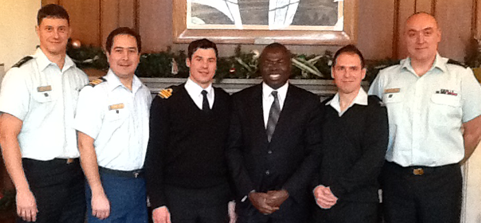 Dr. Thomas Tieku presents lectures at Canadian Forces College