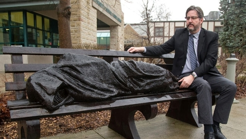 Learn more about the Homeless Jesus Sculpture on CBC Radio Tapestry