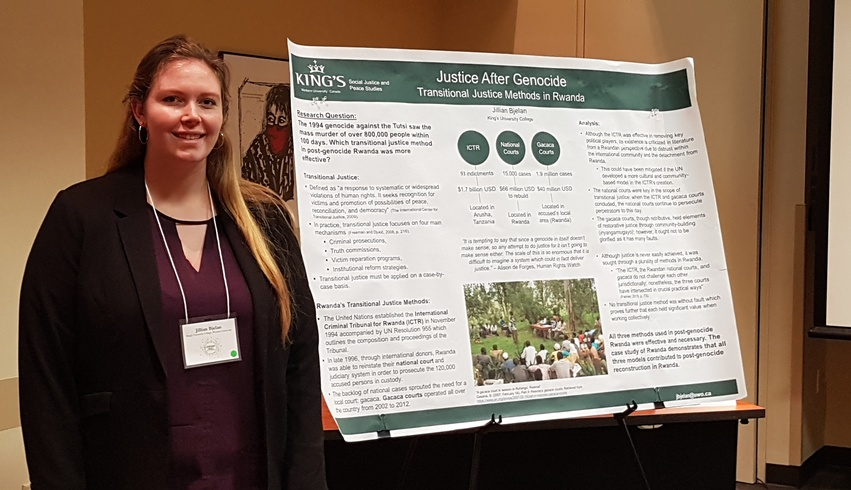 King's student presented at University of Notre Dame