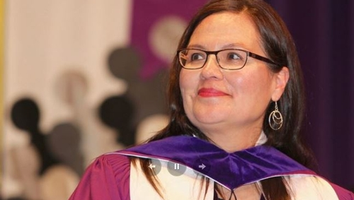 Chief Leslee White-Eye inspires graduating students
