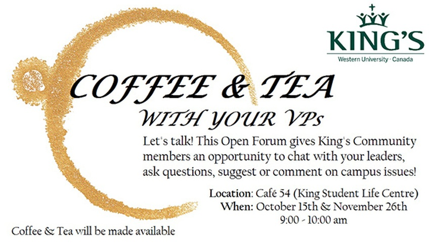 Coffee and Tea with your VPs