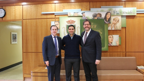 Welcome back to campus, Peter Fragiskatos, M.P., and Ryan Gauss '08