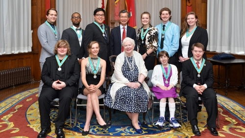 Congratulations to Jillian Bjelan for receiving the Ontario Medal for Young Volunteers