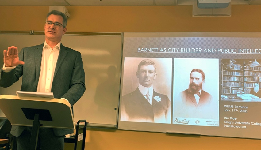 Dr. Rae presents for Western Early Modern Society at Weldon Library