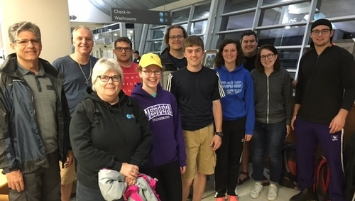 Father Michael Bechard heads to Saskatchewan with students