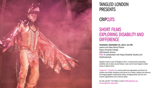 Cripcuts film festival: Tangled Art + Disability in collaboration with King's Disability Studies program