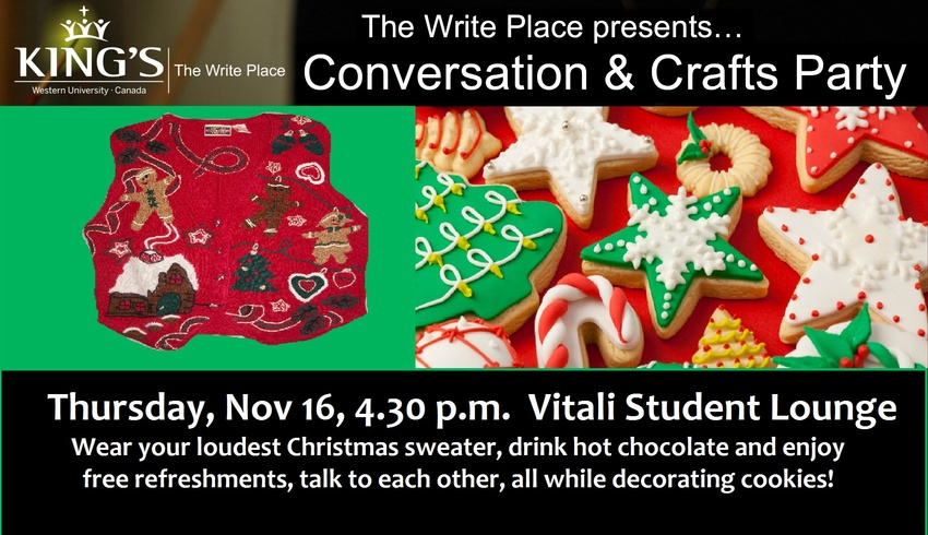 Conversation and Crafts Party
