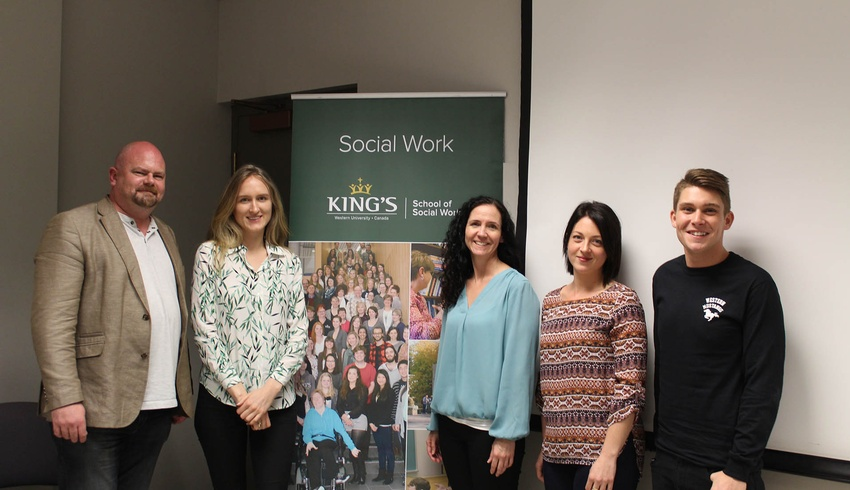 Master of Social Work students open the world of Social Work to high school students
