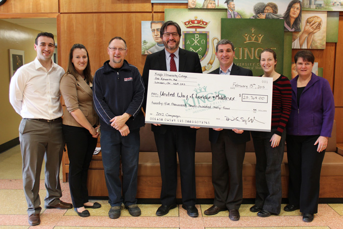 King's exceeds its goal for United Way Campaign