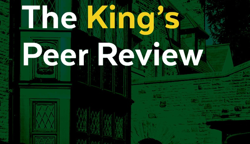 Premier edition of The King's Peer Review highlights faculty publications