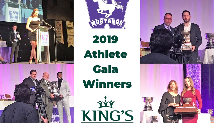 An award-winning night for King's student-athletes at the 2019 Mustang Athletic Gala
