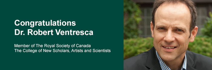 King's Professor Robert Ventresca named Member of The Royal Society of Canada College of New Scholars, Artists and Scientists