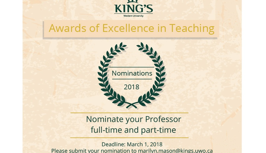 Teaching Award Nominations