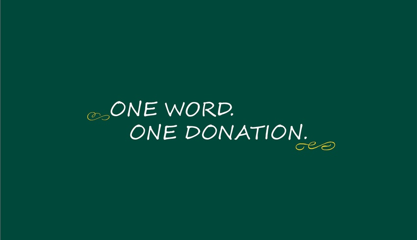 One Word - One Donation