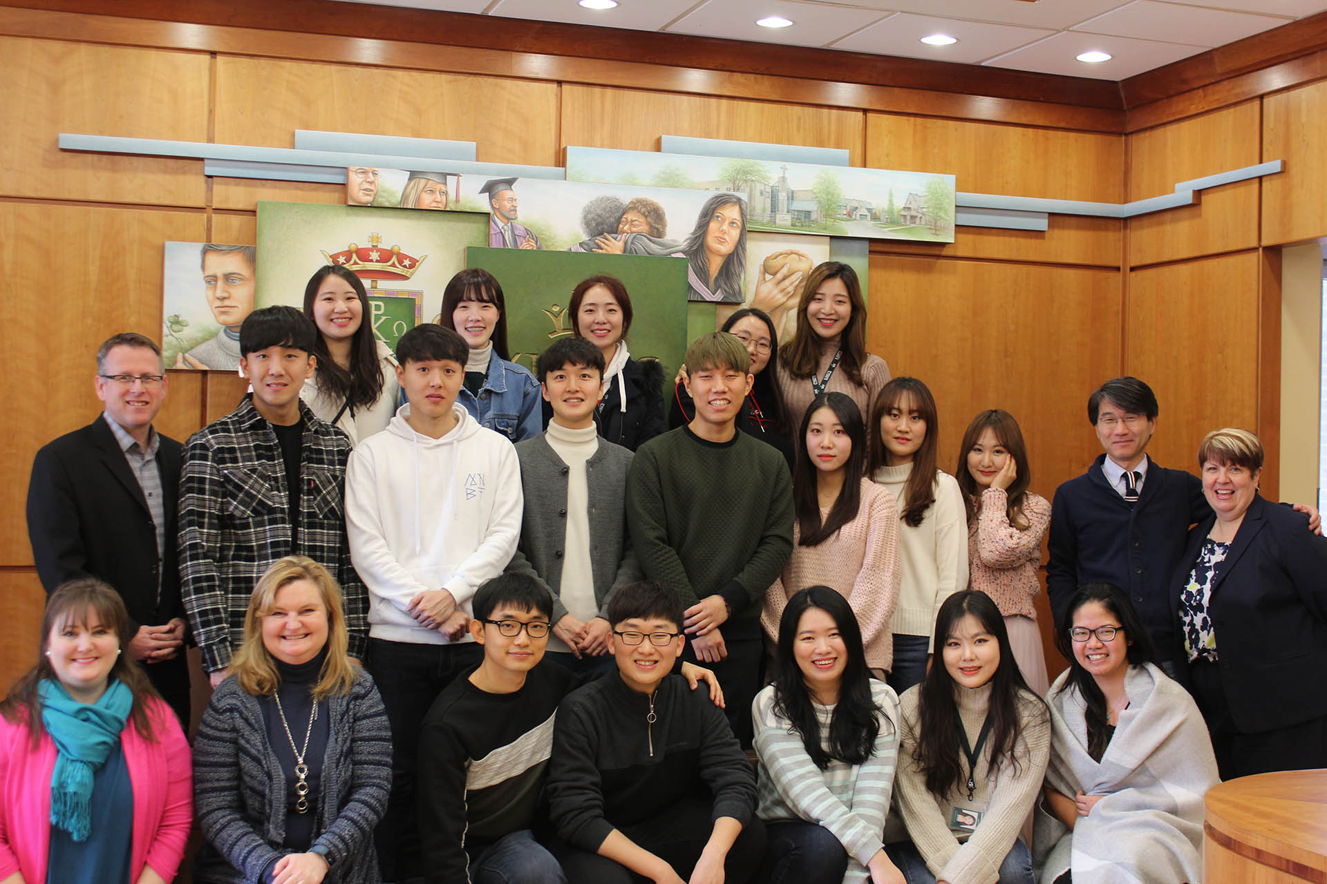 Students from partner university in South Korea arrive on campus