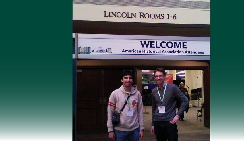 Student and professor head to American Historical Meeting